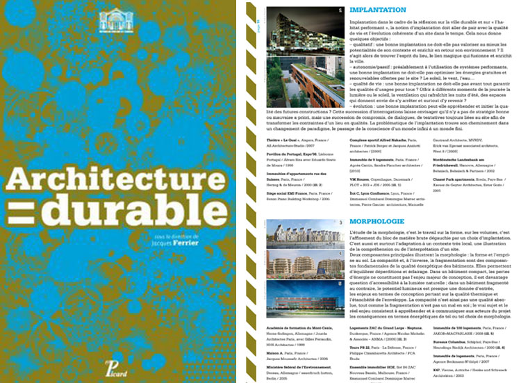 Publications agence franck boutt consultants for Architecture durable